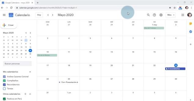 Cómo buscar en Google Calendar
