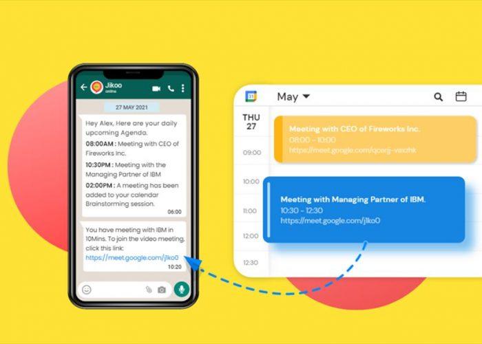 Cómo recibir las reuniones de google calendar en nuestro whatsapp