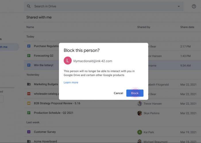 Google Drive tiene una nueva herramienta para bloquear el spam