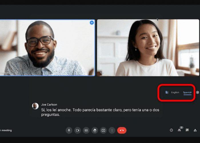 Google Meet subtitulará las reuniones en inglés y las traducirá al español