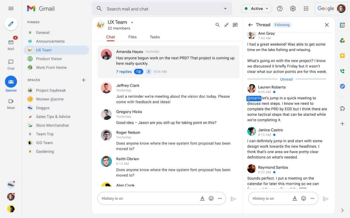 Google Workspace estrena su propio equivalente a Slack