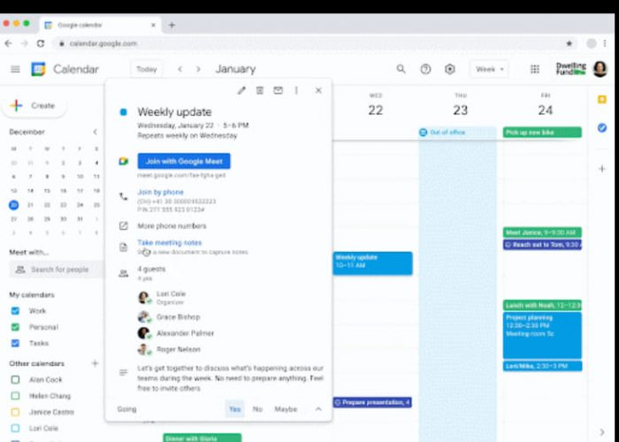 Google Calendar facilita tomar notas en las reuniones