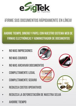 Firmas Digitales o Electrónicas en el Peru
